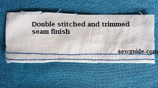 double stitched and trimmed seam finish