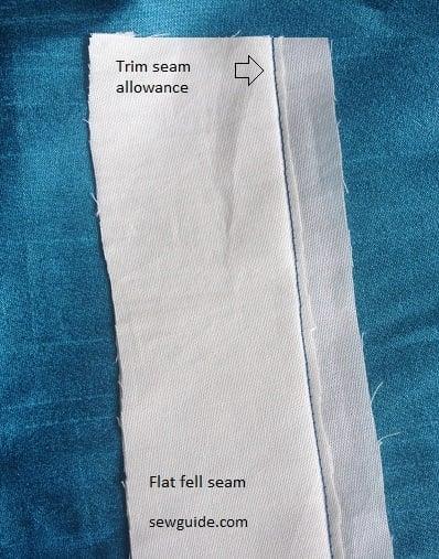 how to make a flat fell seam