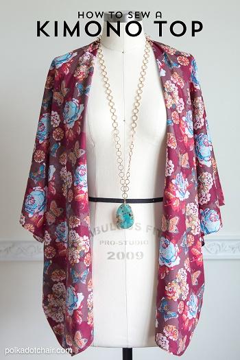 kimono style jacket easy wrap tutorial