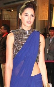 plain sari with choli - a fashion necessity