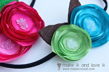 how to make satin flowers