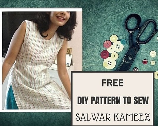 d70d1a8697 How to sew Salwar Kameez top- {FREE PATTERN} - Sew Guide