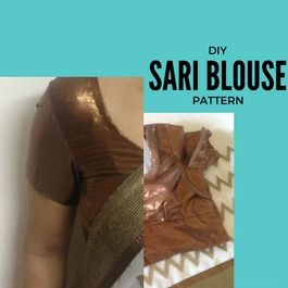 how to stitch sari blouse