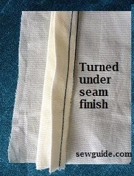 turned under seam finish