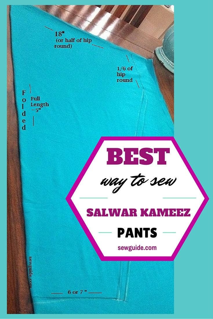 cutting and stitching of salwar kameez pants