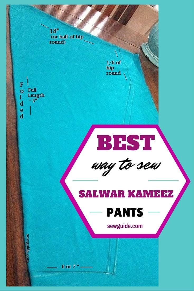 cutting and stitching of salwar kameez pants