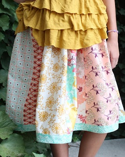 easy and quick skirt to sew for beginners