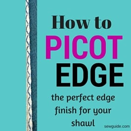 how to sew picot edge