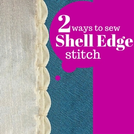 sew shell edge stitch