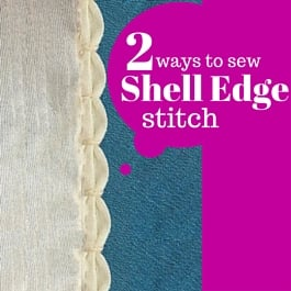 shell edge stitch