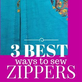 best way to sew zippers