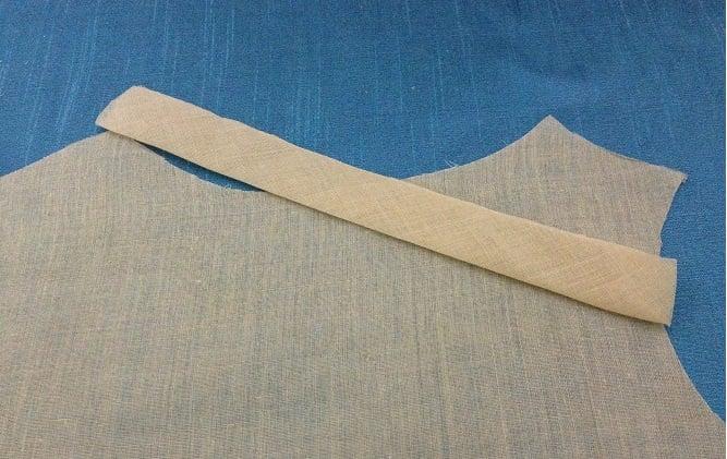 bias facing how to sew