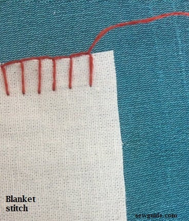 how to hand sew blanket stitch