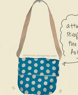 easy messanger bag for beginning sewing