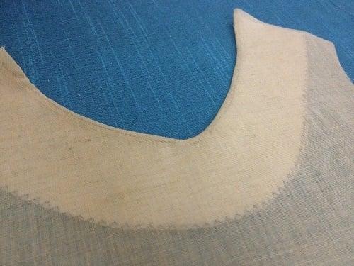 how to sew a facing to a kurti top