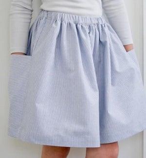 gathered skirt easy beginner tutorial