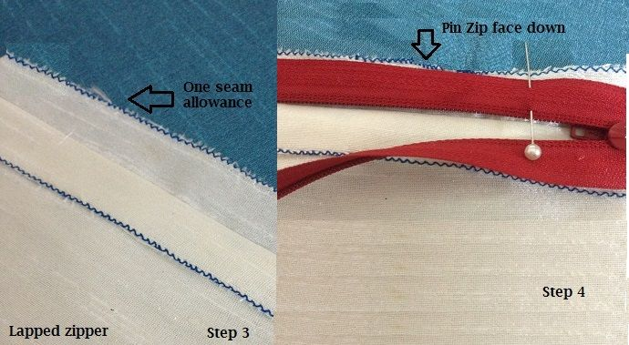 how to sew a lapped zip