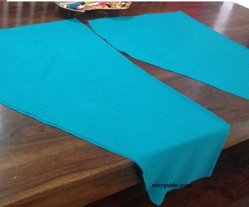 cutting and sewing of salwar bottom