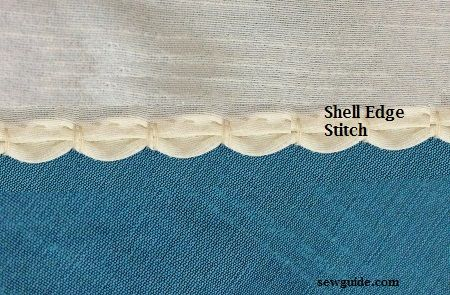 how to sew a shell edge