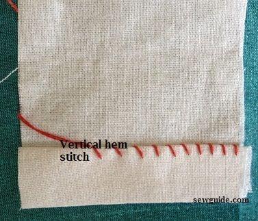 How to sew a hem - vertical hem stitch