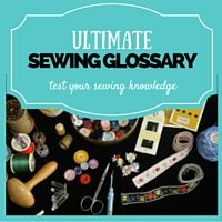 sewing terms