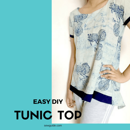 Sew a simple TUNIC top/ dress - with {FREE} DIY Pattern. - Sew Guide