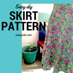 how to sew an easy skirt