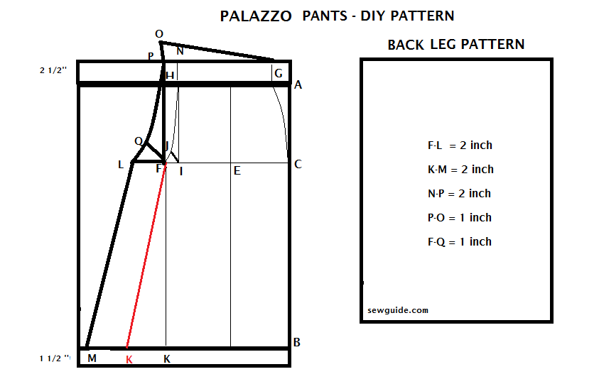 How To Make PALAZZO PANTS Free DIY Pattern Sew Guide Unique Palazzo Pants Pattern
