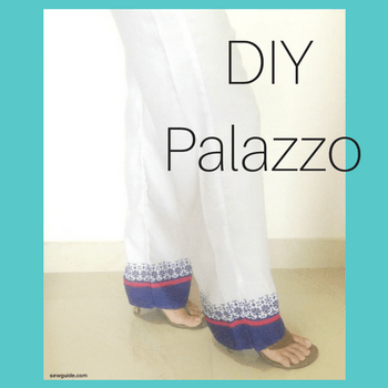how to make palazzo pants free diy pattern sew guide