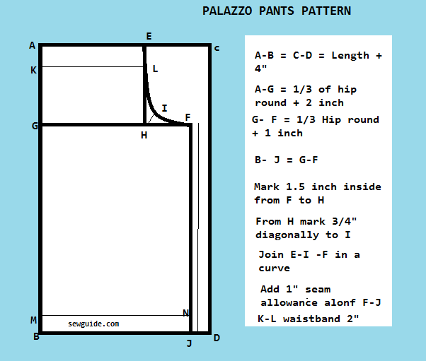 How To Make PALAZZO PANTS Free DIY Pattern Sew Guide Best Palazzo Pants Pattern