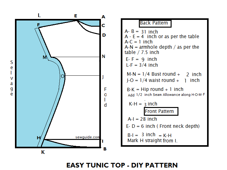 how to sew tunic for women