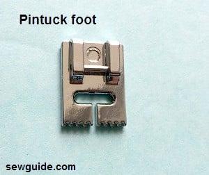 pintuck pressure foot