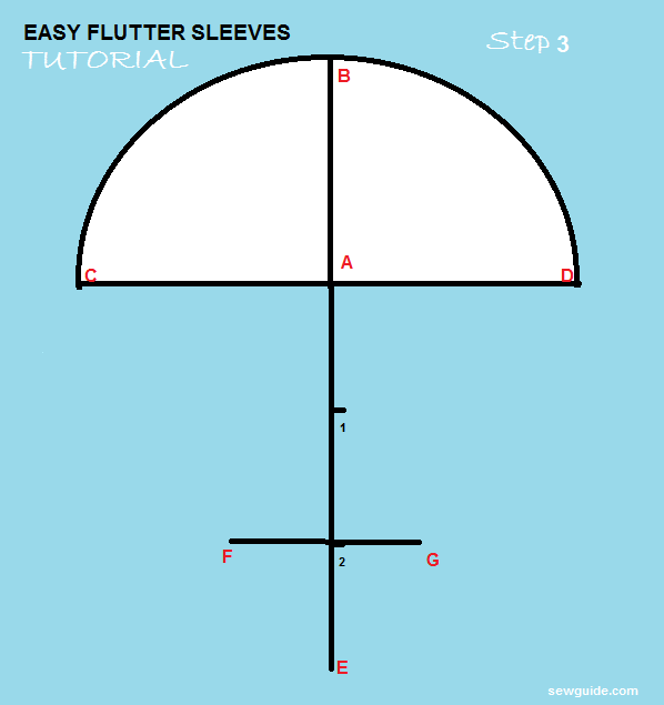 3 ways to Draft a beautiful DIY {FLUTTER SLEEVE} Pattern - Sew Guide