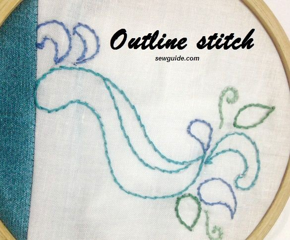 Perfect outline stitch embroidery stitching tutorials