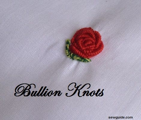 bullion knot stitch