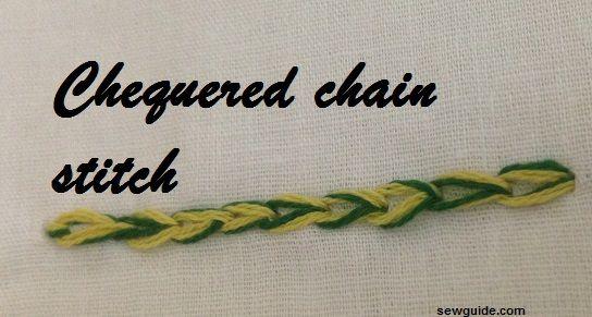 chequered chain stitch