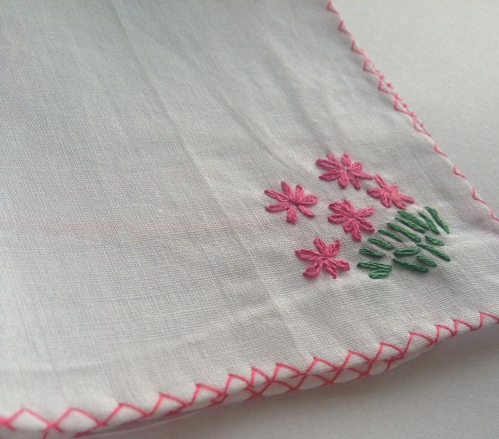 Embroidered handkerchief easy ways to make your own