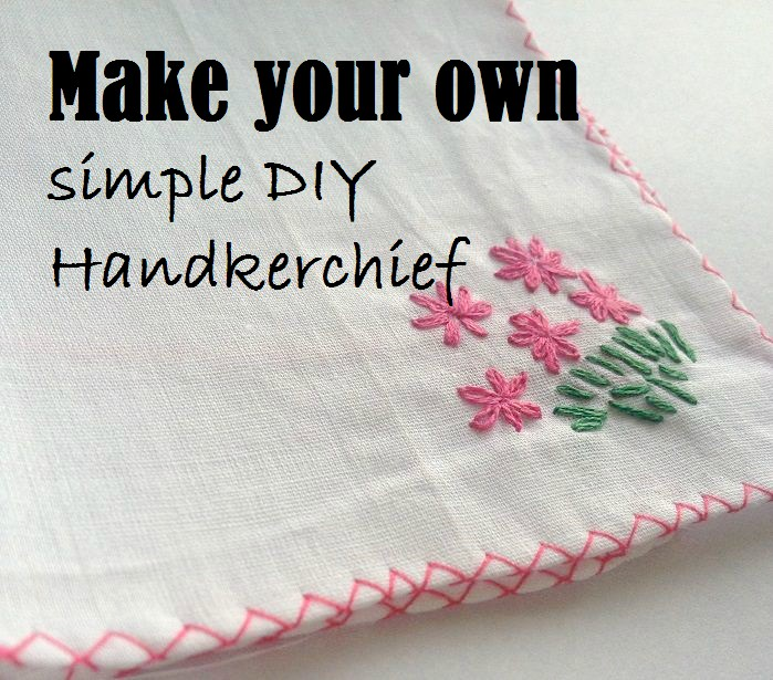 embroidered handkerchief sewing