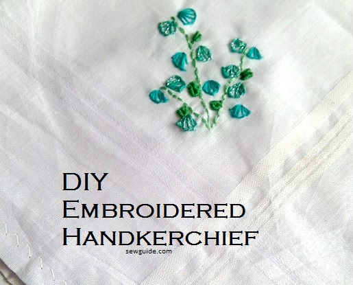 Hankerchief Top with Shoulder Ribbon and Emroidery Detail