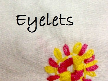 how to make eyelets by hand