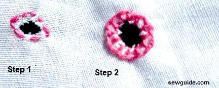 how to make eyelet stitch