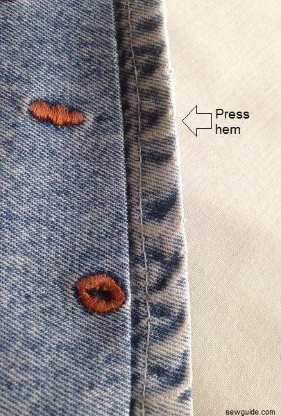 how to sew jeans hem