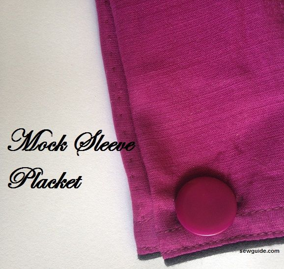 how to make a sleeve placket