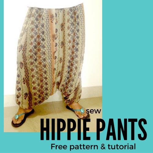 easy hippie pants pattern