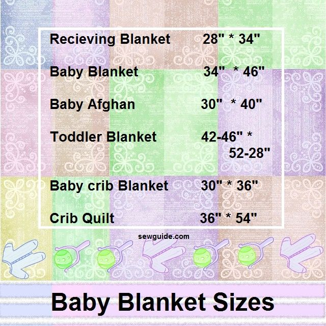 Know your BABY'S BLANKET & QUILT SIZE - Sew Guide : measurements for baby quilt - Adamdwight.com