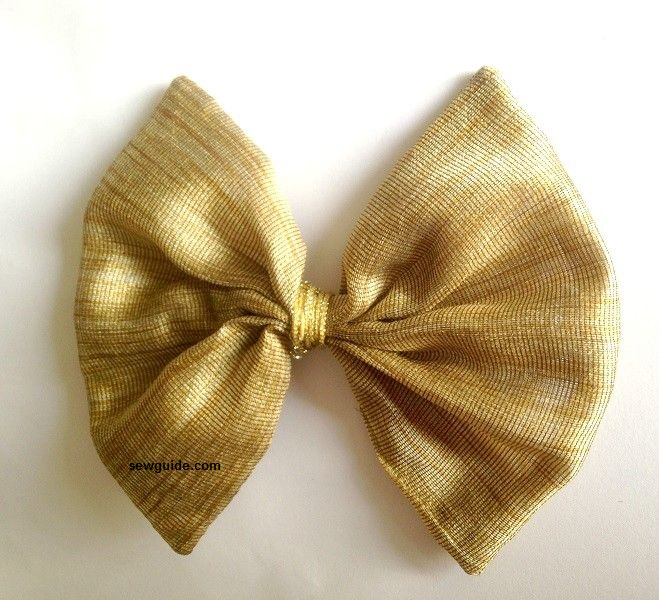 bow made with fabric