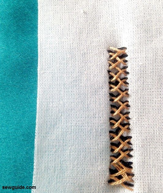 closed herringbone stitch