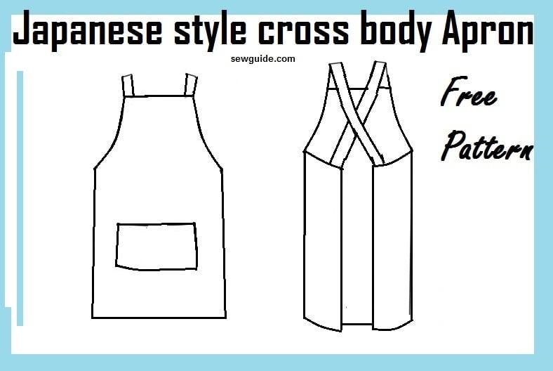 Make Easy Japanese style CROSS BACK APRON - Free diy pattern ...