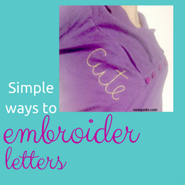 embroidering letters and initials