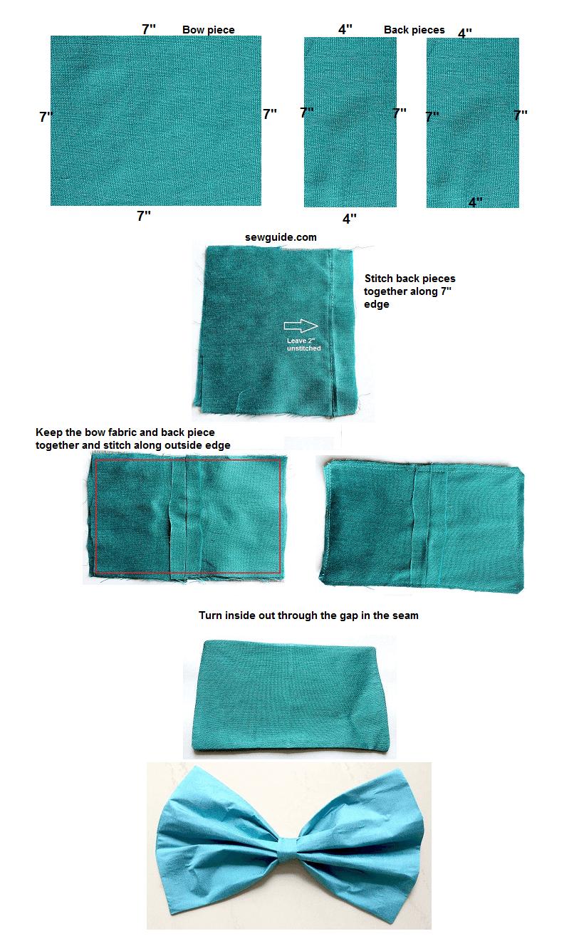fabric bow diy tutorial